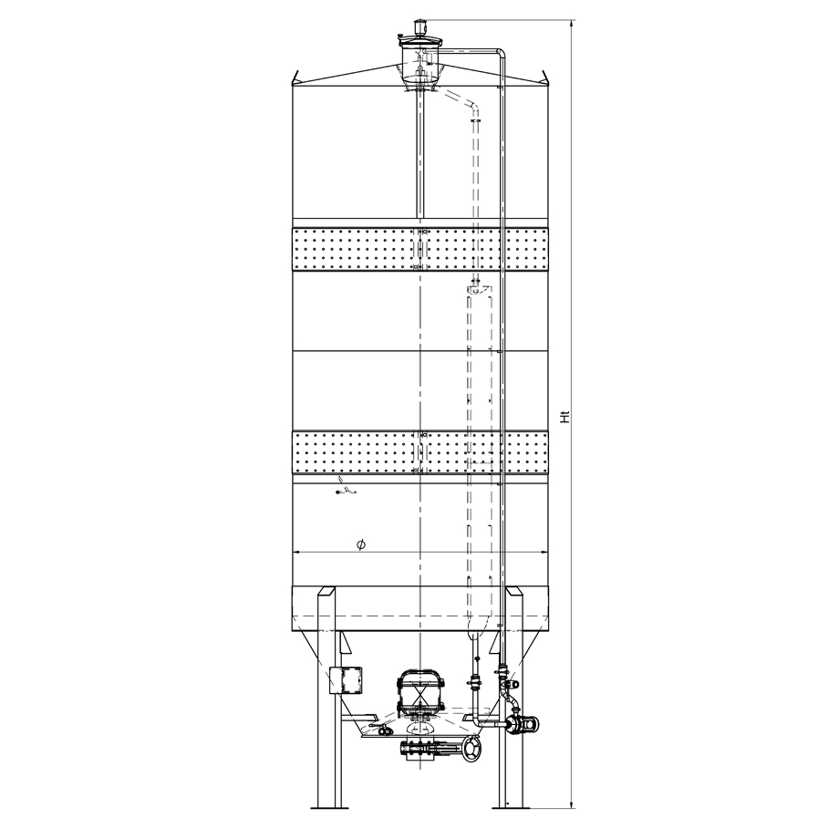 Вертикален ферментатор 60+60 HL