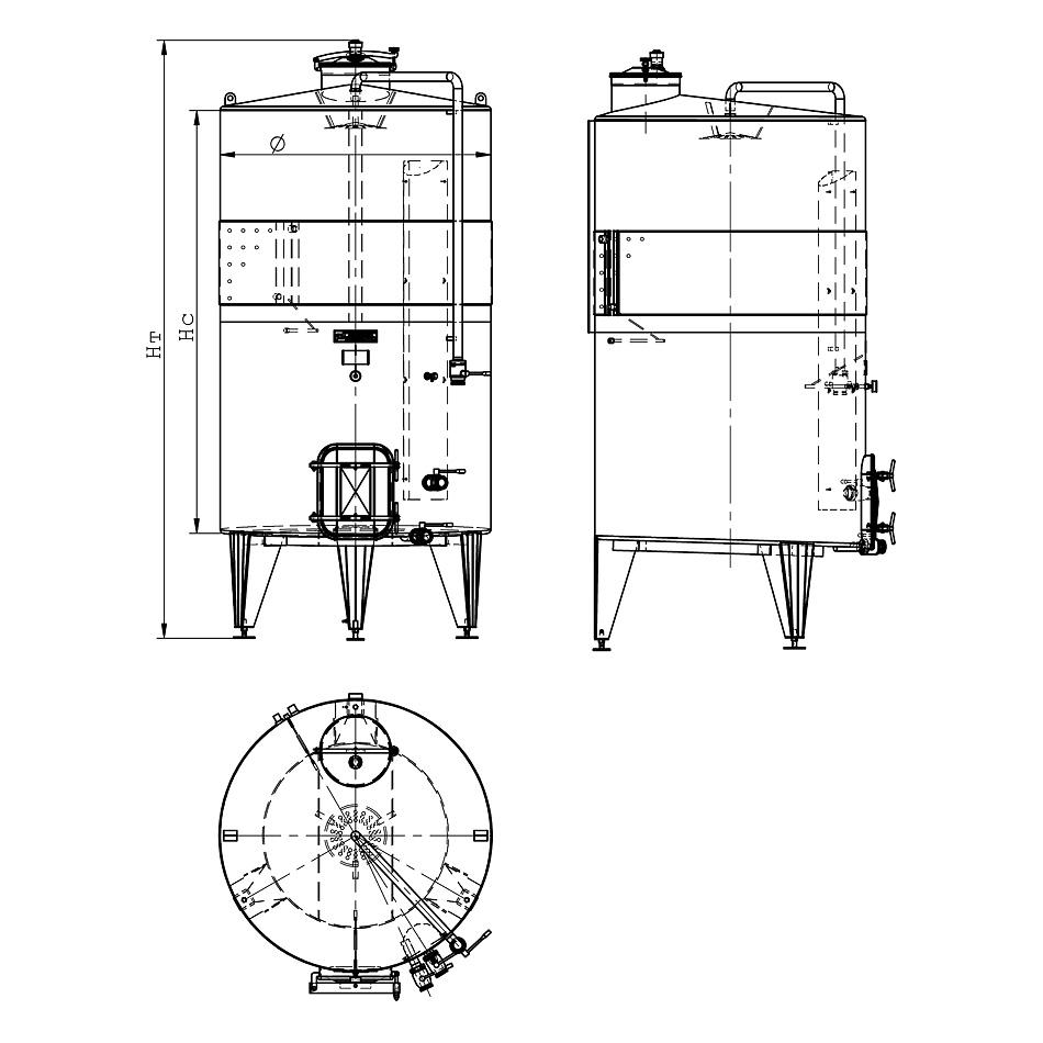 Ферментатор с плоско дъно